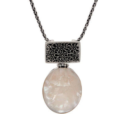 EXEX by Claudia Agudelo Sterling Silver Mother of Pearl Pendant w/Chain