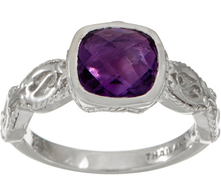 DeLatori Sterling Silver Gemstone Ring