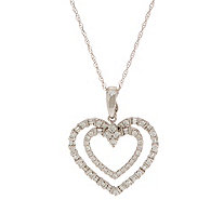 Diamond Heart Enhancer w/ Chain, 5/8 cttw, 14K by Affinity - J354779