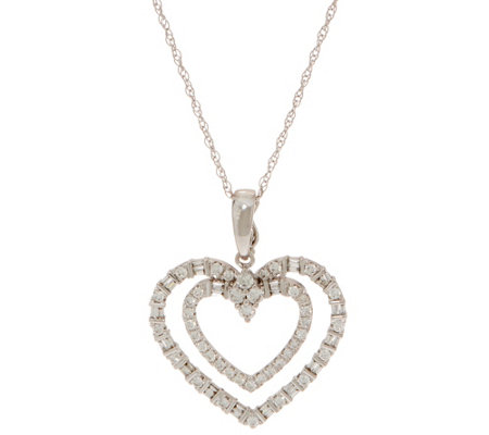 Diamond Heart Enhancer w/ Chain, 5/8 cttw, 14K by Affinity