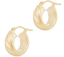 "Italian Gold 1/2"" Satin Twist Hoop Earrings, 14K Gold - J356479"