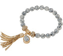 Samantha Wills Faceted Gemstone Stretch Bracele with Tassel - J356579
