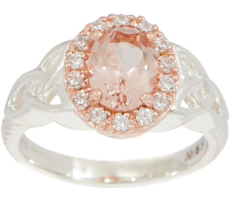 """As Is"" JMH Jewellery Sterling Silver Morganite Ring"