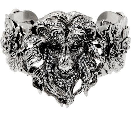Kirks Folly Aslan Lion Heart Cuff Bracelet