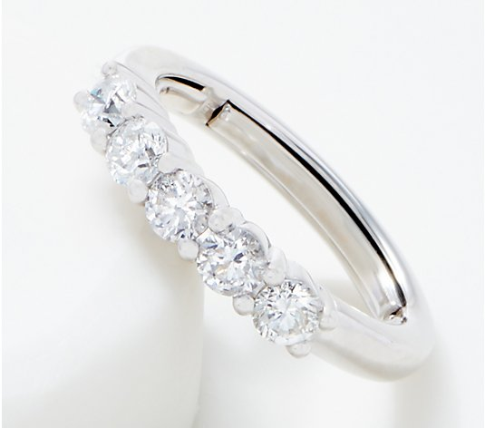 Affinity 14K Flexible 5-Stone Diamond Ring, 1.00 cttw