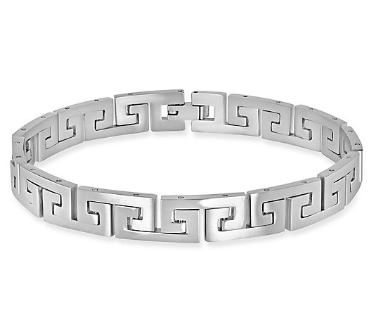 "Steel by Design 8"" Greek Key Bracelet"