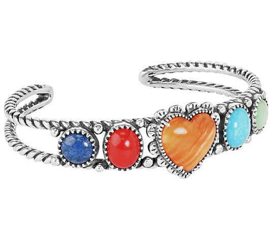 American West Sterling Santa Fe Sunrise Heart Cuff
