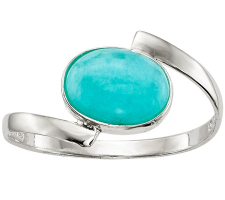 Sterling Oval Amazonite Ring