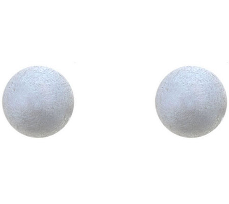 Sterling Silver 6mm Satin Finish Ball Stud Earring