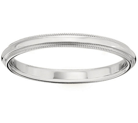 Men's Platinum 2.5mm Milgrain Wedding Band