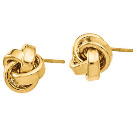 14k Gold Love Knot Ribbon Earrings