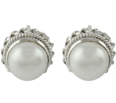 Novica Artisan Crafted Blossoming Purity Pearl Earrings