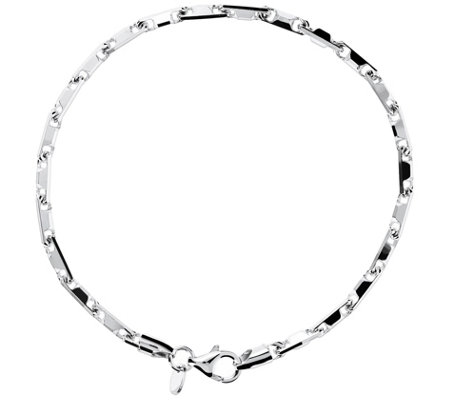 Ultrafine Silver 8 Bold Fancy Link Bracelet 10 1g