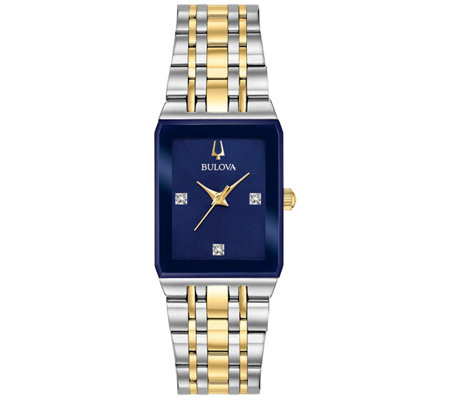 Bulova Women S Two Tone Diamond Accent Watch