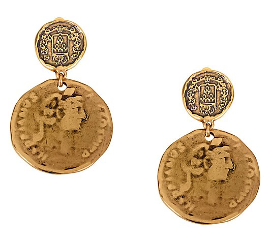 Linea by Louis Dell'Olio Roma Coin Clip Earrings