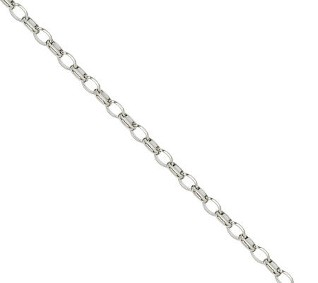 "Stainless Steel 3.2mm 18"" Cable Chain Necklace"