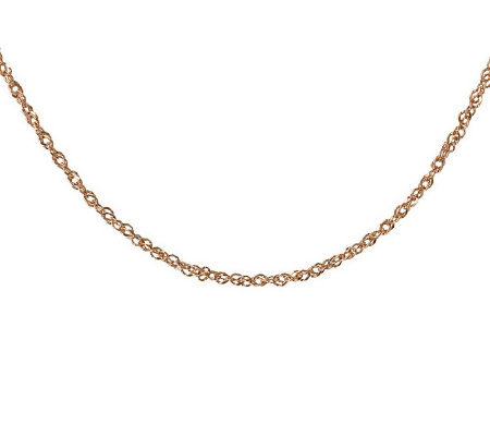 "36"" Diamond Cut Singapore Necklace, 14K Gold3.10g"