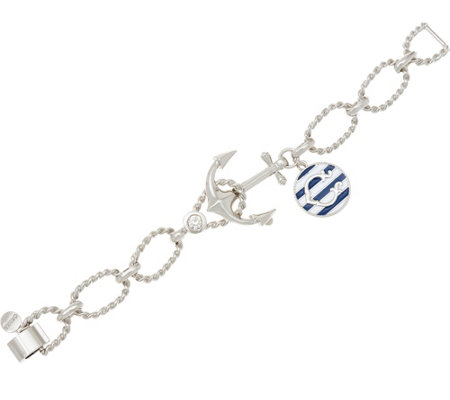 C. Wonder Anchor Bracelet with Enamel Charmand Foldover Clasp