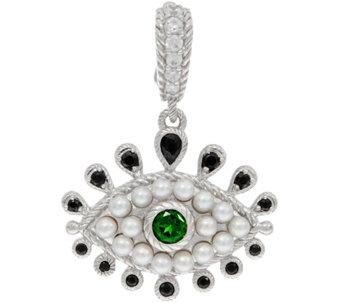 Judith ripka pendants jewelry qvc judith ripka sterling silver freshwater pearl evil eye enhancer j350280 aloadofball Images