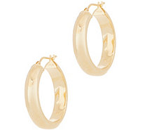 "Italian Gold 1"" Polished Hoop Earrings, 14K Gold - J356480"