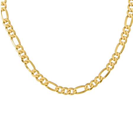 "14K Gold 22"" Figaro Necklace, 55.1g"