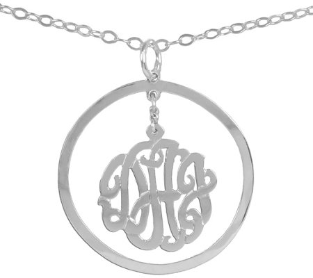 Sterling Silver Personalized Chandelier Pendant