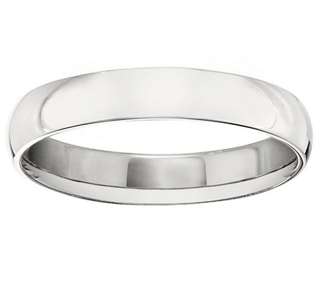 Men's 14K White Gold 4mm Polished Comfort Fit Wedding Band