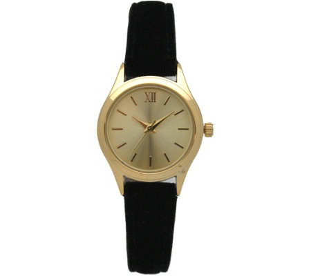 Olivia Pratt Women's Petite Velvet Leather Watch