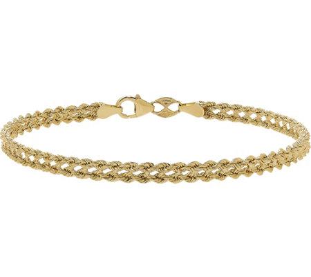 Eternagold 7 1 4 Heart Rope Bracelet 14k Gold