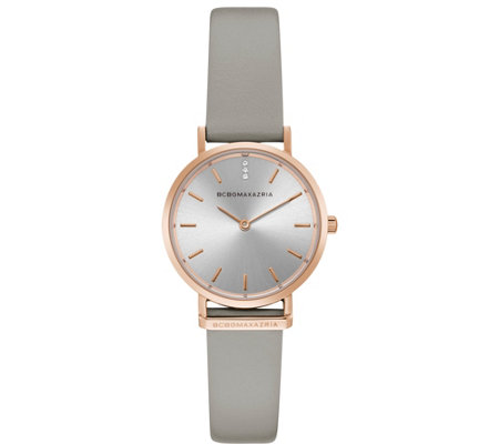 Bcbg Max Azria Woman S Rosetone Gray Band Watch