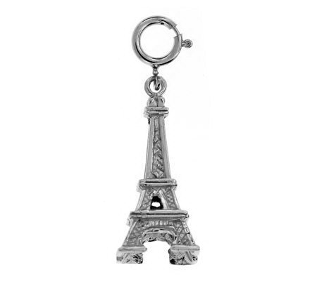 14K White Gold Eiffel Tower Charm