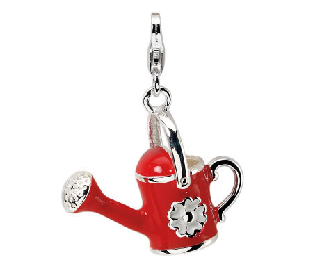 Amore La Vita Sterling Dimensional Red WateringCan Charm