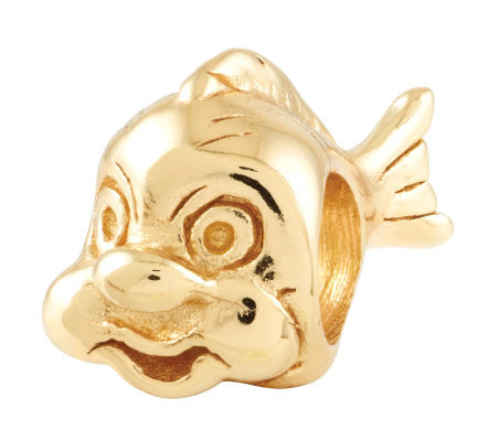 Prerogatives 14K Yellow Gold-Plated Sterling Fish Bead