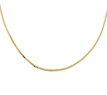 "Veronese 18K Clad 20"" Polished Box Chain"