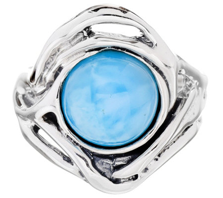 Hagit Sterling Silver Larimar Cabochon Ring