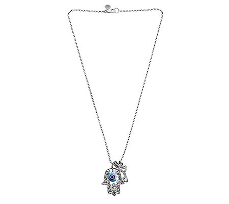 Or Paz Sterling Evil Eye Hamsa Necklace