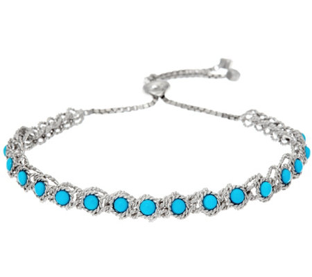 Sleeping Beauty Turquoise Station Adjustable Bracelet