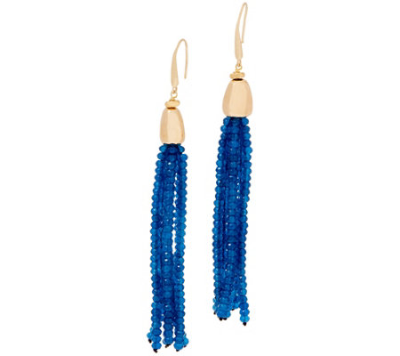 Lola Rose Zoelle Gemstone Tassel Earrings