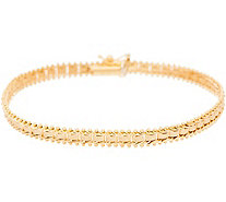 "Imperial Gold 8"" Satin Sheen Bracelet, 14K Gold, 8.8g - J350681"