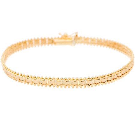 Imperial Gold 8 Satin Sheen Bracelet 14k 8g Qvc
