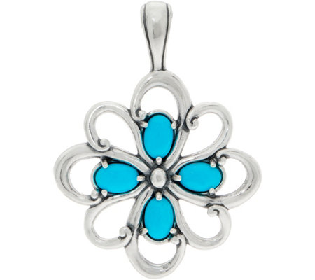 Carolyn Pollack Sleeping Beauty Turquoise Sterling Pendant