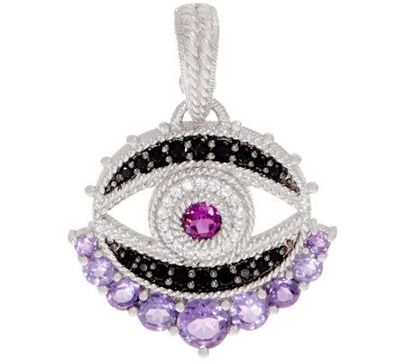 Judith Ripka Sterling Silver Multi-Gemstone Evil Eye Enhancer