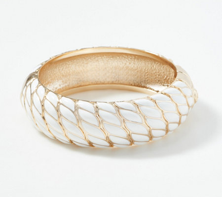 Grace Kelly Collection Woven Enameled Bangle Bracelet