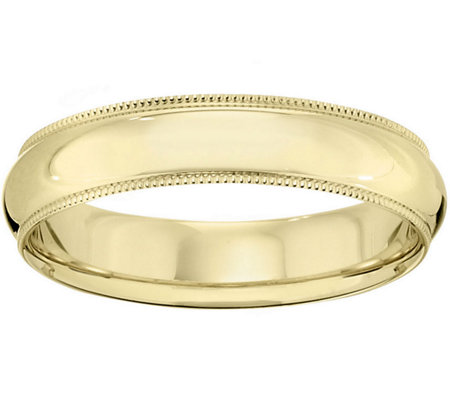 Women's 14K Yellow Gold 5mm Milgrain Wedding Band