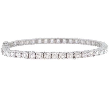 Epiphany Diamonique 100 Facet Clic Tennis Bracelet