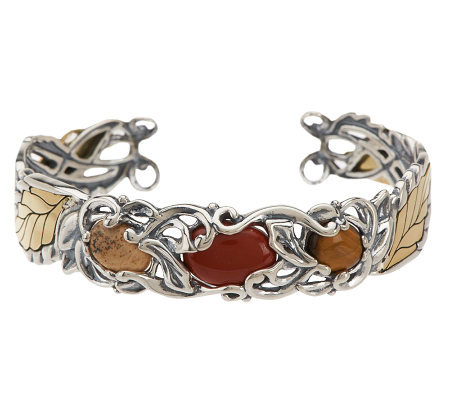 Carolyn Pollack Changing Seasons Autumn Sterling Cuff Bracelet