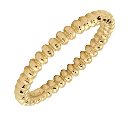 Simply Stacks Sterling 18K Yllw Gold-Plated 2.25mm Bubble Ring