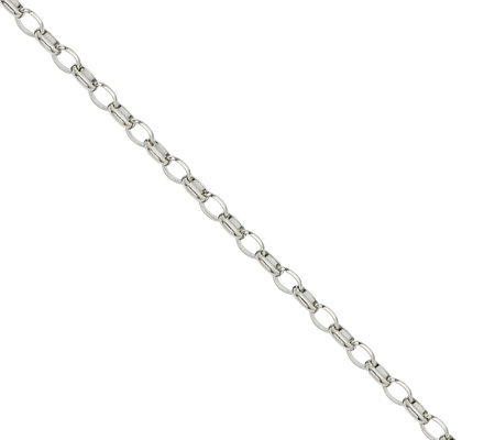 "Stainless Steel 3.20mm 20"" Cable Chain Necklace"