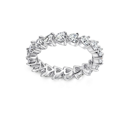 Diamonique 1.80 cttw Eternity Band Ring, Platinum Clad