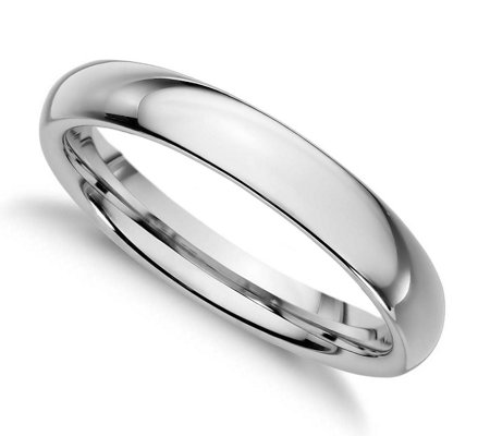 Sterling Silver 3MM Silk Fit Unisex Wedding B and Ring